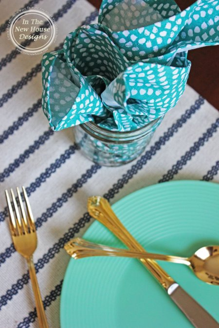 Shades of Blue Tablescape