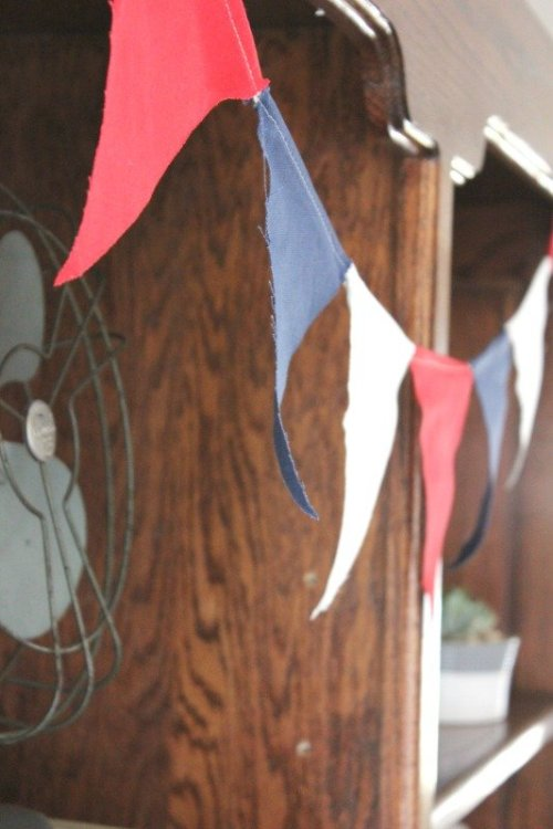 Cute Patriotic Bunting From Target Dollar Spot