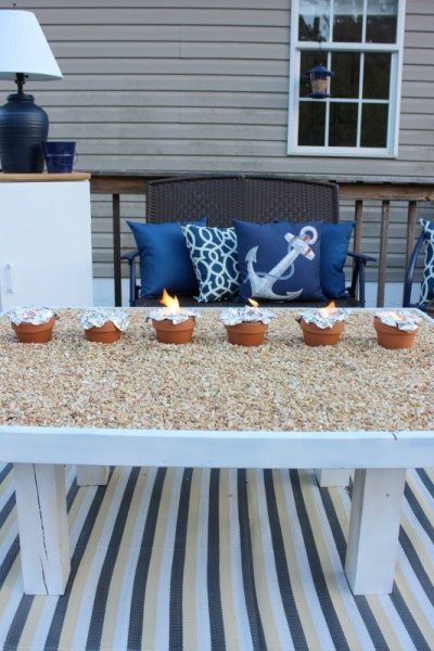 DIY S'mores Roasting Table