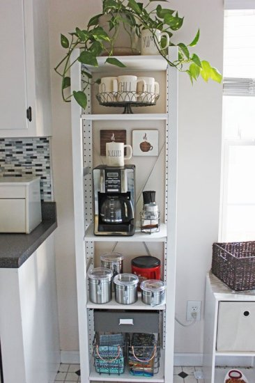 Coffee Bar Made With Ikea Ivar Shelving