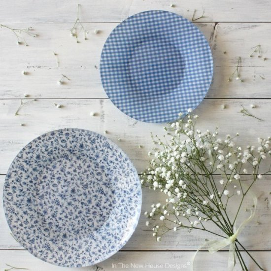 DIY Fabric Lined Dishes