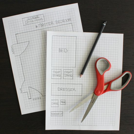 how to draw a room layout to scale on graph paper