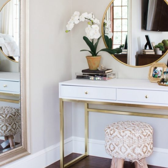 bedroom dressing table recreation mood board on a budget