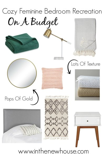 Cozy Feminine Bedroom Recreation On A Budget