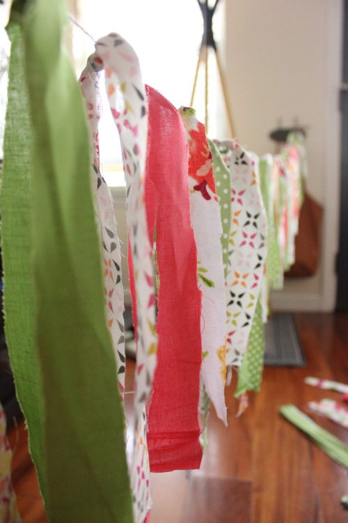 Easy garland craft with leftover fabric