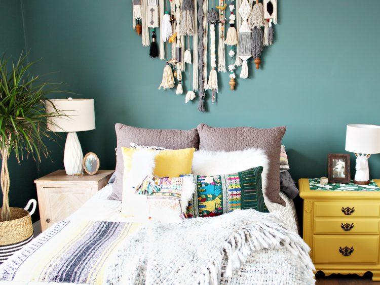 southwestern eclectic bedroom