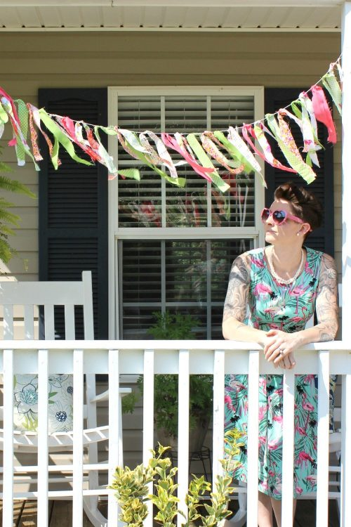 fabric scrap garland for parties