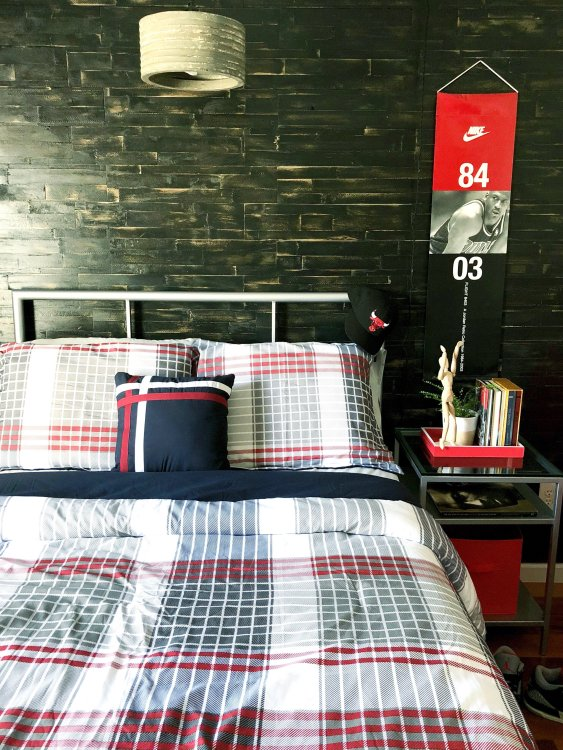 big boy industrial modern rustic bedroom