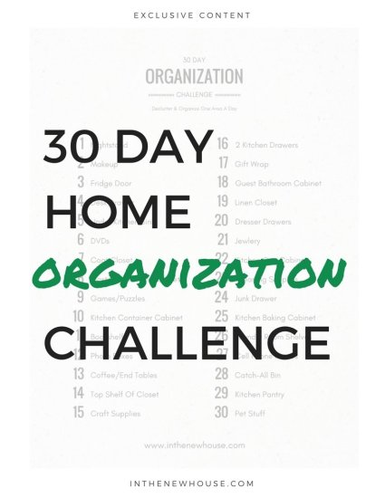 organize your home in 30 days