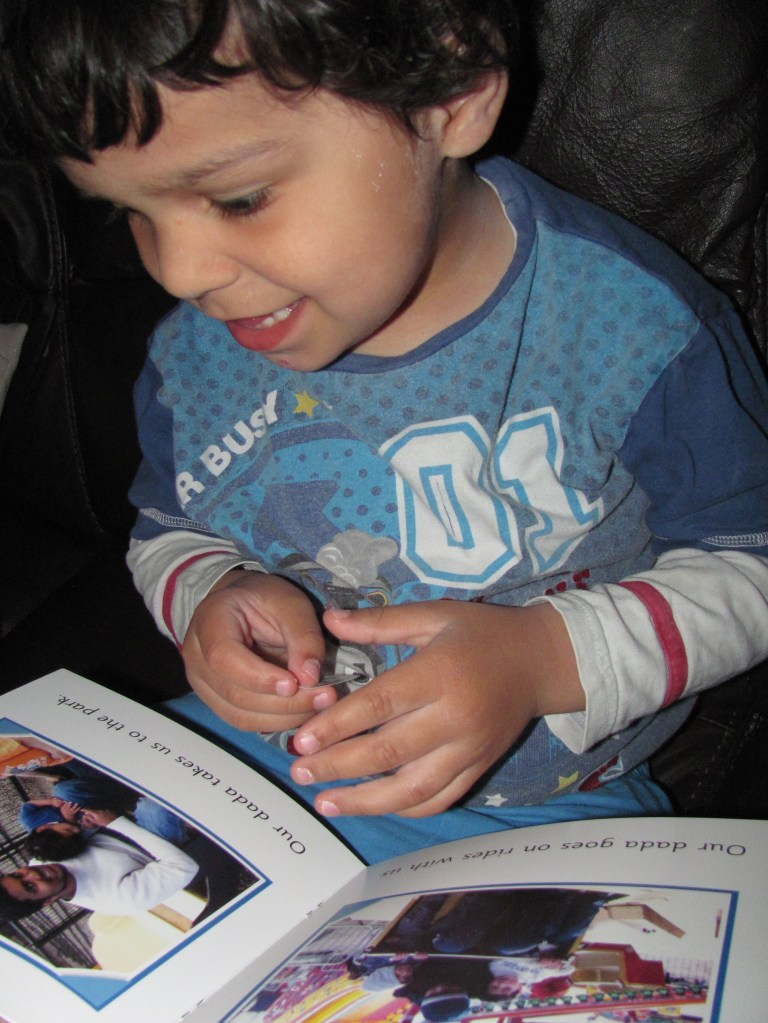 reading personalised books