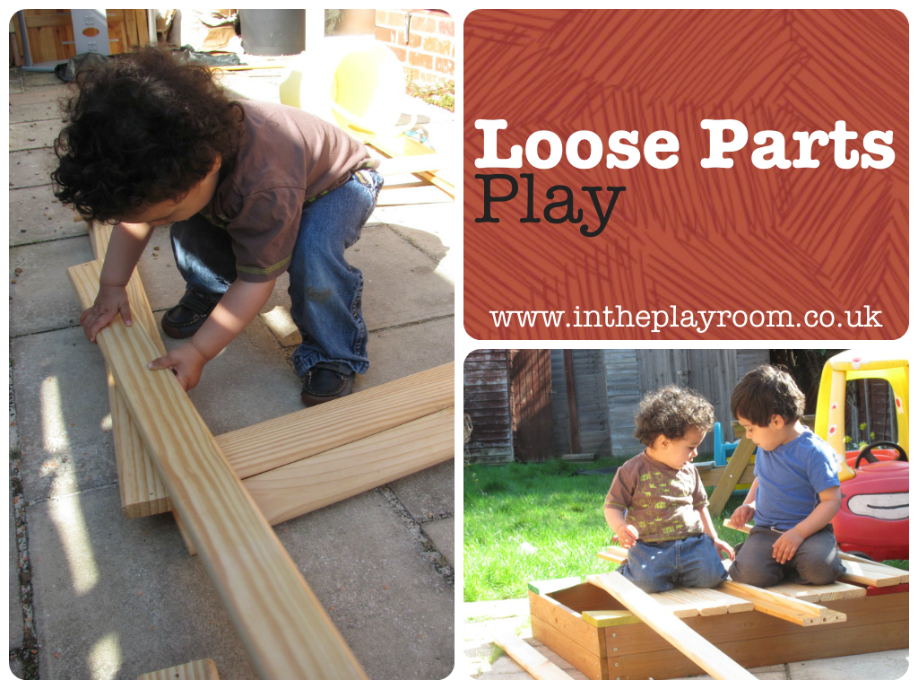 loose parts play with wood