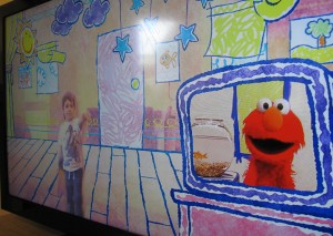 Screen shot of Kinect Sesame Street two way tv season 1 elmo's world