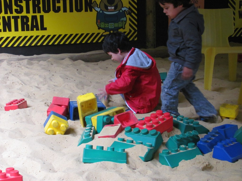 sand bricks play area