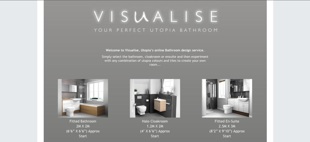 visualise uptopia bathroom interior design tool