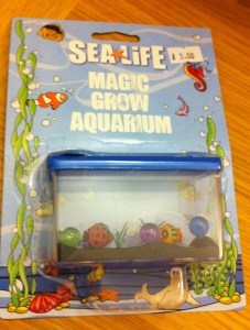 grow your own aquarium toy from the sealife centre in london giftshop