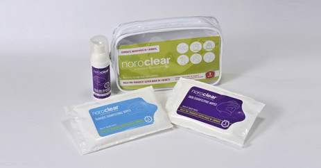 noroclear disinfecting products hand disinfectant out and about