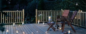 lovely decking outside entertaining