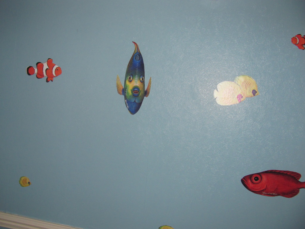 clownfish angel fish wall stickers