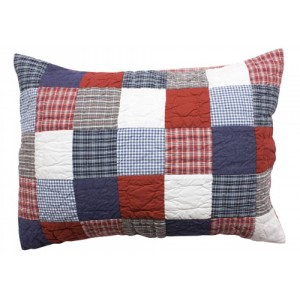 Patchwork quilted pillow