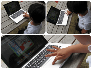 5 year old playing on herotopia