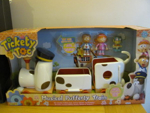 Boxed Musical Pufferty toy Tickety Toc