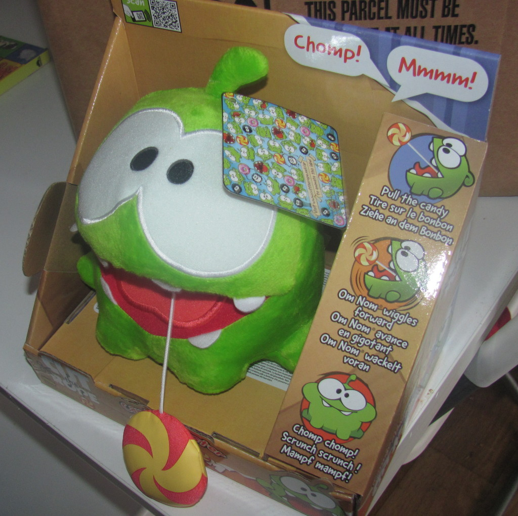 om nom candy monster in box