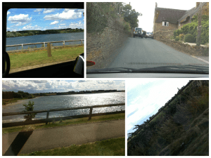 driving countryside leicstershire