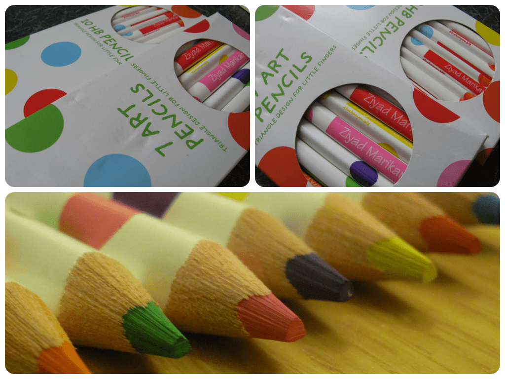 stuck on you personalised pencils