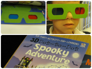 halloween activity books spooky 3d glasses