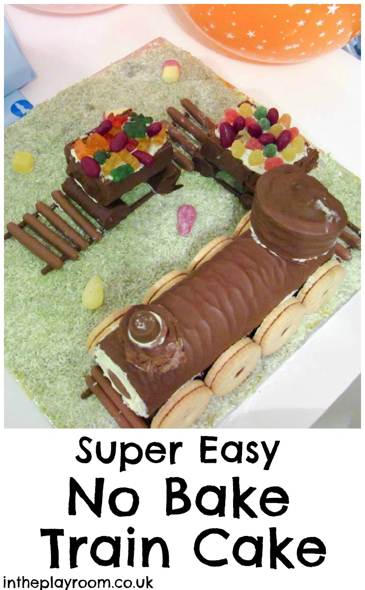 How to make a no bake train cake. This is a super easy fun cake for kids birthday parties
