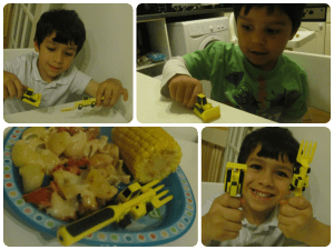 digger cultery constructive eating set