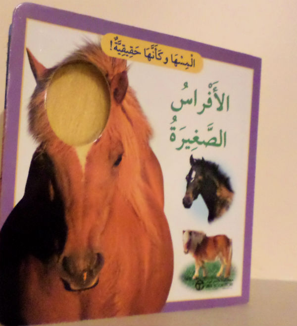 Arabic books for kids touch and feel books