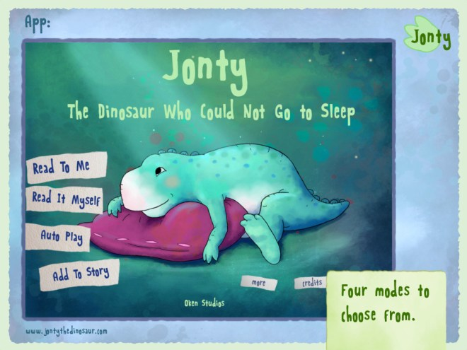 Jonty The Dinosaur Who Could Not Go to Sleep