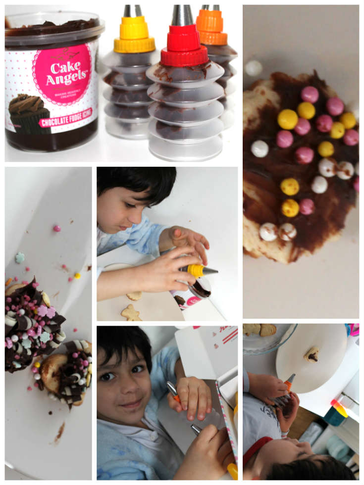 making decorated biscuits - biscuit decorating