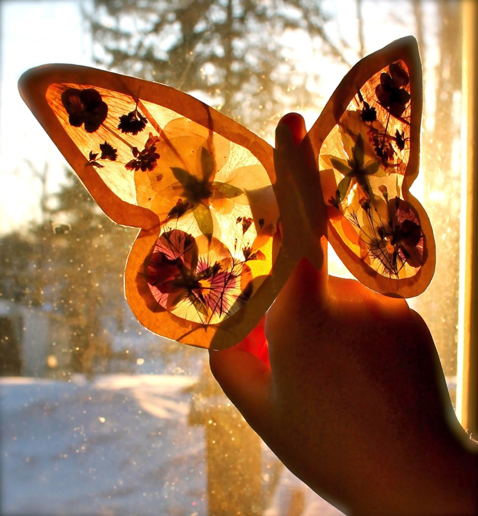 spring activities for kids - butterfly craft