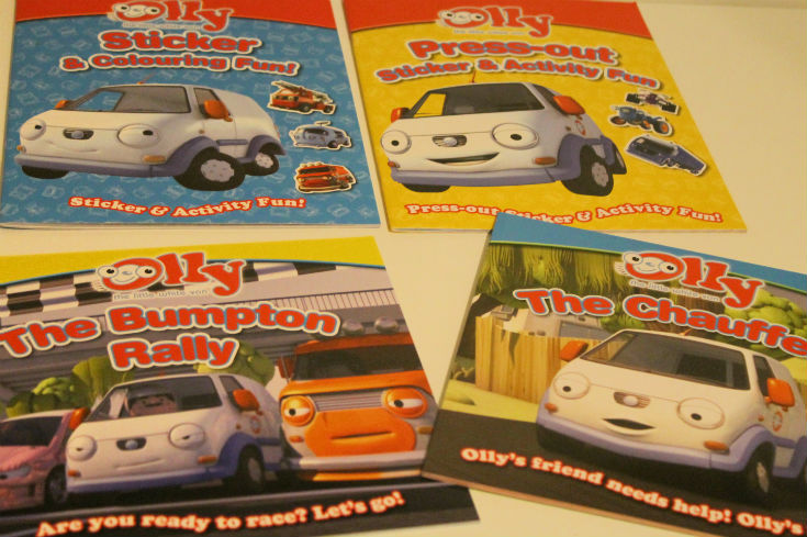 olly the little white van books - story books and activity books