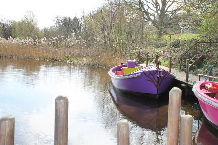 boat ride at bewilderwood