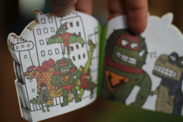 dino supersaurus flip book