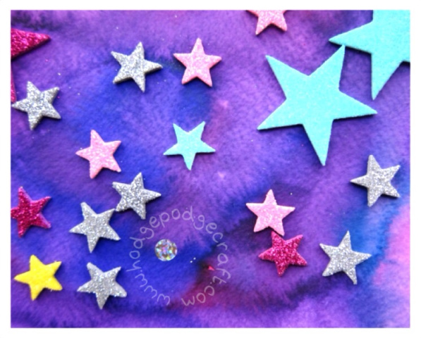 liquid water colour galaxy craft for kids