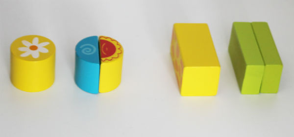 Fractions with Bigjigs wooden building blocks