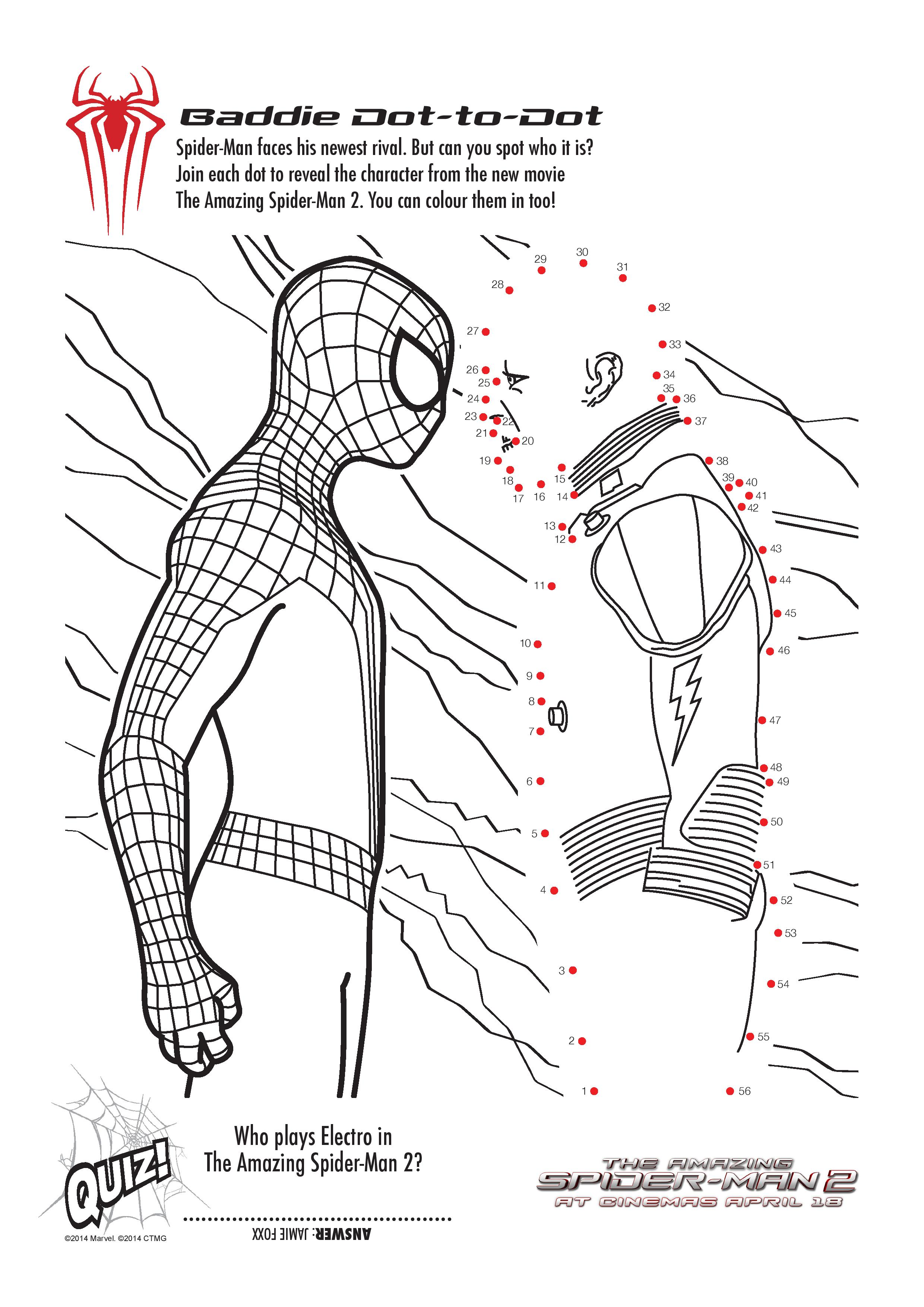 Free Printable Spiderman Colouring Pages And Activity Sheets In The Playroom
