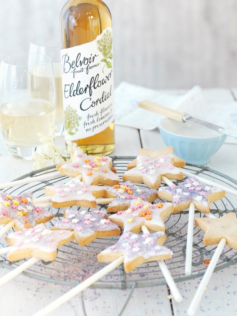 Elderflower biscuits - fairy wand biscuits