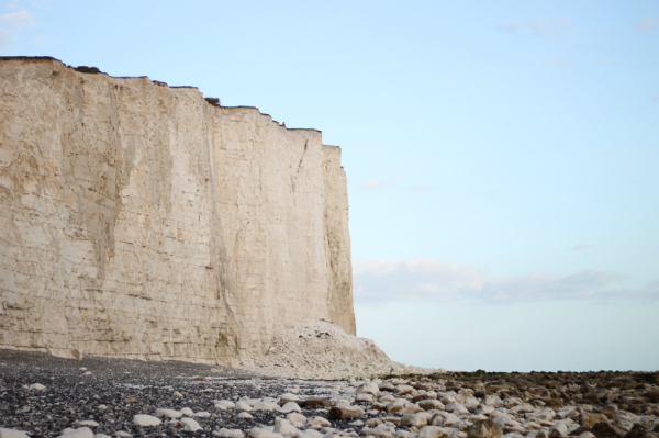 the beach at beachy head near to the cliffs