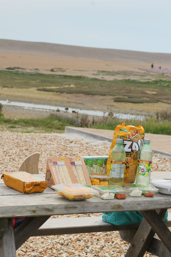 #morrisonsmum picnic at chesil beach