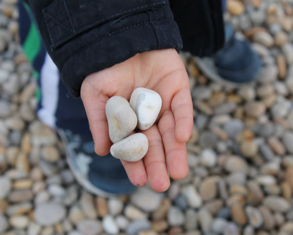 pebbles at chesil beach