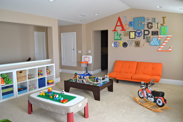 alphabet wall playroom