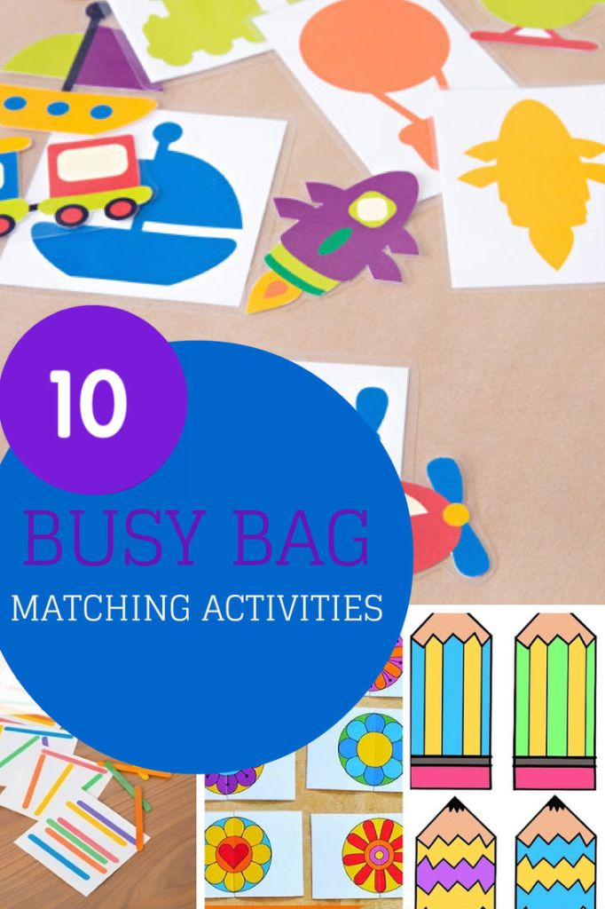 10 busy bags with matching activities