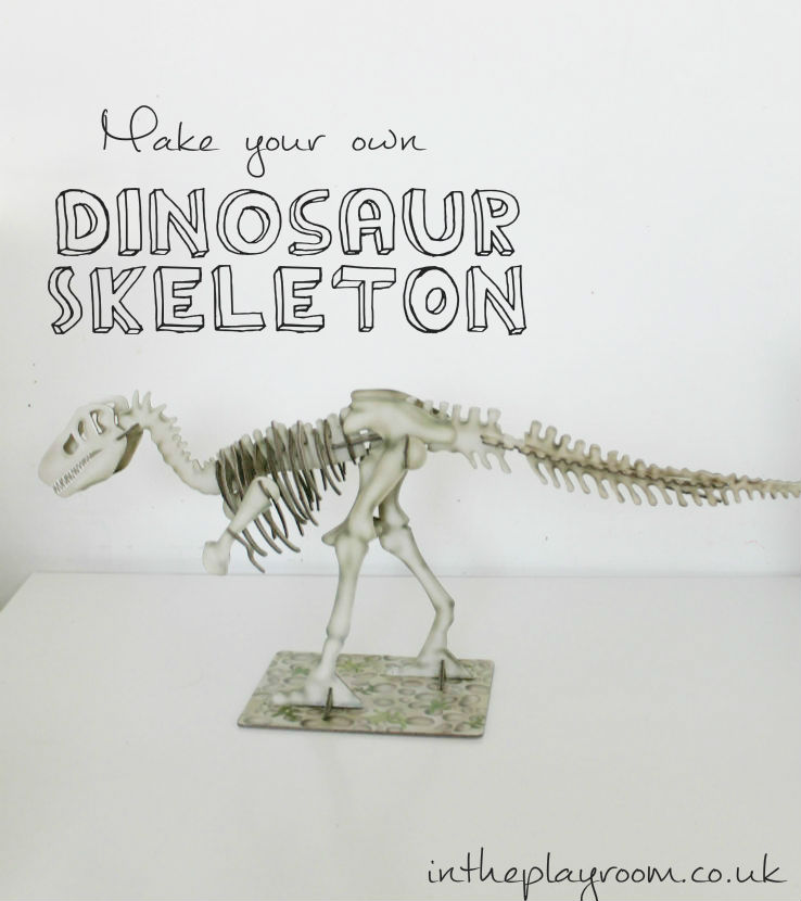 Make your own dinosaur skeleton