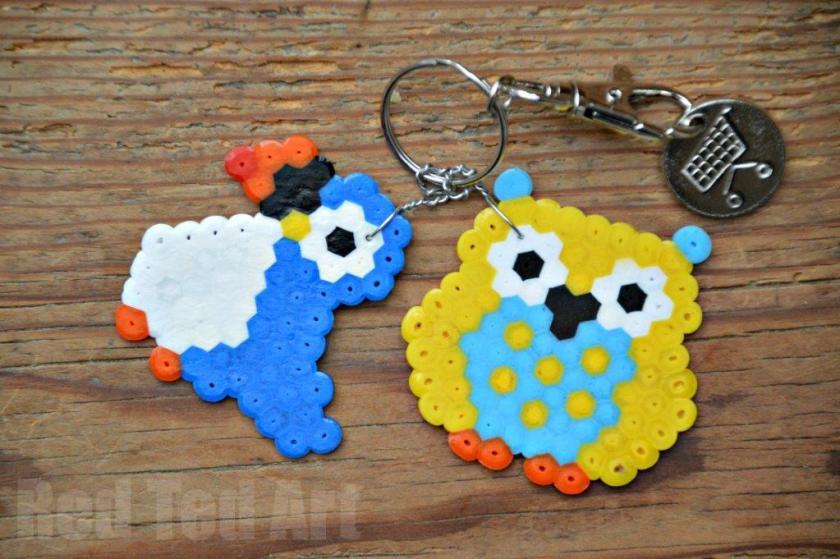 Owl Crafts Hama Bead Keyrings