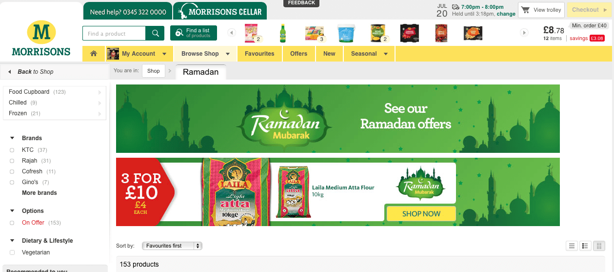 Morrisons online shopping service